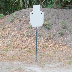 AR500 Close range rifle target on t post