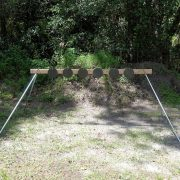 AR500 Portable Plate Rack Target system front view