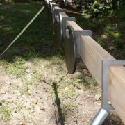 AR500 Portable Plate Rack Target system Sideview